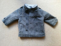 Baby Boy Winter Grey Coat 12 months