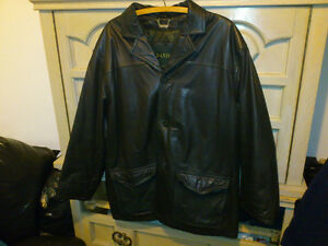 Mens Danier Leather Coat  Dark Chocolate Brown Color Barely Used