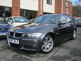 2007 57-Reg BMW 320 i M Sport Touring Auto,FULL IVORY LEATHER,SAT NAV,LOOK!!