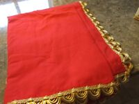 *******RED & GOLD TABLE CLOTH*******