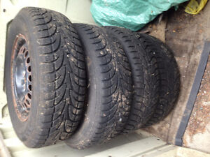 "4 x WINTER CLAW SNOW TIRES 15"" DEEP TREAD - LIGHTLY USED"