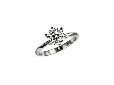 GIA Solitär Diamant Ring 750 Weißgold 0,40 Karat River D SI1 Lasergravur Neu  Solitär-diamant-ring Gia