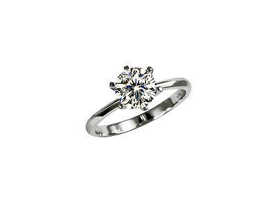 GIA Solitär Diamant Ring 18K Weißgold  Karat D River SI Lasergravur Neu Brillant Solitär-diamant-ring Gia