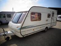 Abbey Vogue 417 4 Berth End Washroom L Shape Lounge Single Axle Touring Caravan For Sale Bristol