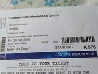 Bastille tickets BIC x 2 tonight 28/10/2016 for sale