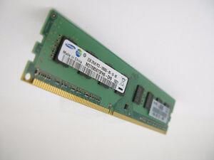 Samsung 2GB DDR3 PC3 10600U RAM memory