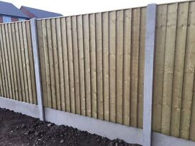 🔨🌟The Best Quality Vertical Board Pressure Treated Flat Top Wooden Fence Panels