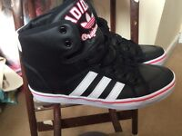 Adidas black and pink trainers size 7.5 £20 o.n.o