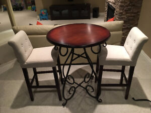 Bistro table set with chairs