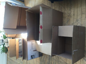 boites en carton, déménagement