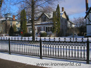 ELEGANT IRON AND STEEL FENCE, FENCING