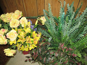 Lots of Artificial Flowers