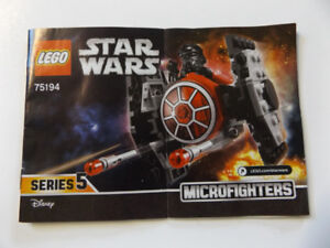 Star Wars Lego Microfighters 75194 Complete Set