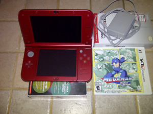 New 3ds XL + chargeur + Mega Man Collection