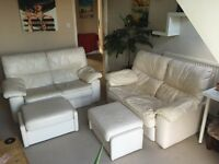 2x 2 Seater Sofa with 2 foot rests