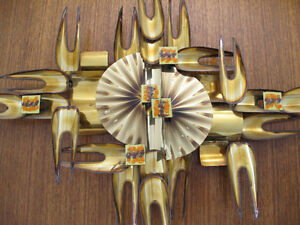 Mid-Century Modern Brutalist Metal Wall Art Sculpture by Horst