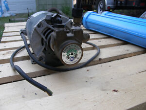 Fluid-O-Tech Pump & commercial electric motor from water filter