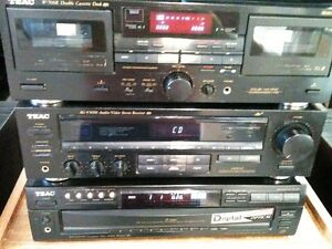 TEAC Receiver -- 5 Disc Cd --- Cassette Deck & Tower Speakers