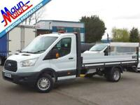 """2016 """"66"""" Ford Transit T350 TDCi 125PS L4, 14 ft DROPSIDE with TAIL LIFT, DRW"""