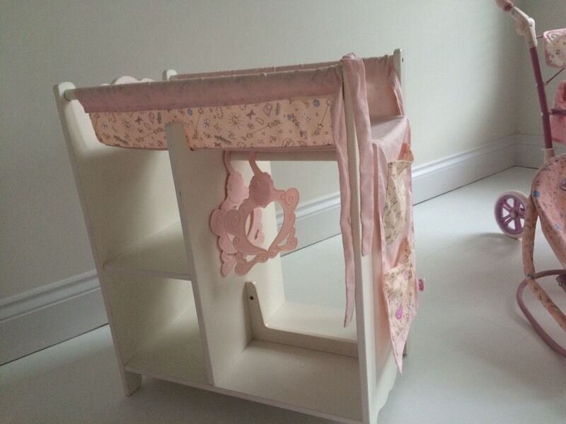 BABY ANNABELL WOODEN CHANGING STATION UNIT SHELVES HANGING - Anna bell baby wardrobe