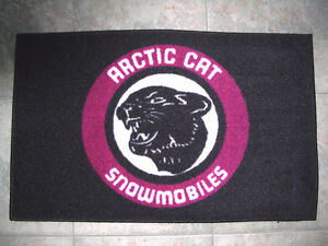 Decorative mats with Vintage snowmobile logos + Ford & Mustang m