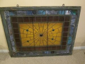 OUTSTANDING STAINED GLASS WINDOW 51 BY 43