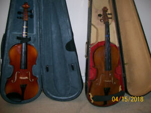 Two Violins,  $150 Each-Your choice - 705 835 1597