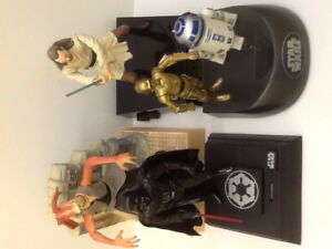 Star Wars R2-D2, Darth, Jar Jar, Qui-Gon 1990's Talking Banks