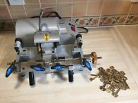 RST dual cylinder / mortice key cutting machine with blanks locksmiths