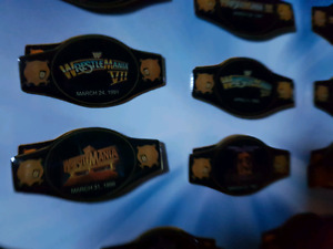 The Official WWE WrestleMania Mania Pin Collection