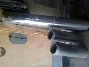 """Stainless Steel Insulated Chimney 7"""" pipes (5 pipes) and Cap"""
