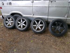 Mags 18 5x100 avec pneus 225/45/18
