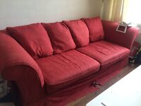 Large sofa with duck feather cushions
