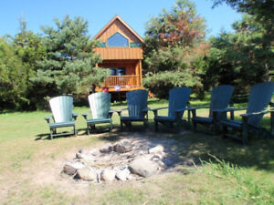 CABINS/TENTING on RICE LAKE Island!   ***INCREDIBLE***