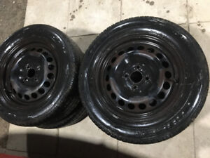 Chevy cobalt 4 bolt rims with all season 195/60 r 15 tires