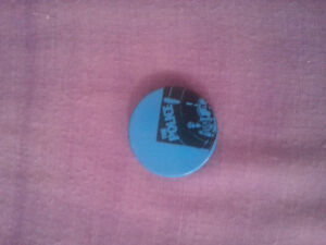 The police rock band pin button