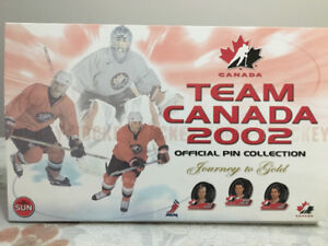 Team Canada 2002 official pin collection