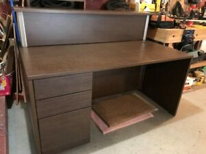 Reception desk with raised counter. Very good condition.