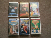 6 ASSORTED VHS - $5.00 for the lot - Walt Disney