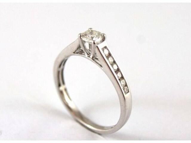 18ct White Gold Ladies Diamond Ring N Ring Women S