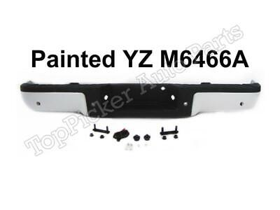Painted White Complete Rear Bumper Assy For 2009-14 Ford F150 Styleside W/ Hole