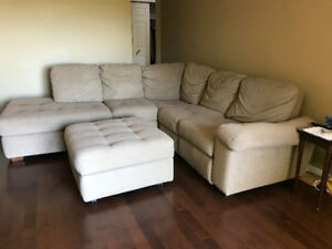 Sectional and Automan Micro Fibre with recliner