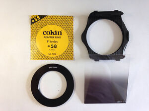 Cokin Adapter Ring + P Filter Holder + Gradient Grey G1 Filter