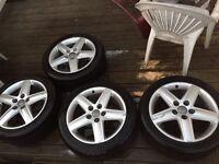 "VW golf Passat t4 transporter Audi A3 a4 a6 17"" alloy wheels 7.5j et45 5x112 Pcd seat leon"