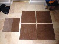Carpet tiles X120 tiles x 500mm X 500mm brown