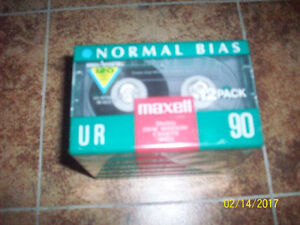 """6 New """"Maxwell""""  UR  90 """"NORMAL BIAX""""  Cassette  Tapes"""