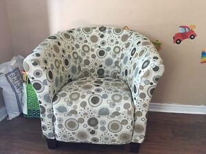 The Brick Sundial Accent Fabric Tub Chair in Good Condition