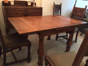 Antique Oak Dining Room set for sale!