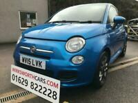 2015 15 FIAT 500 1.2 S **STUNNING COLOUR BLUE**FULL SERVICE HISTORY**