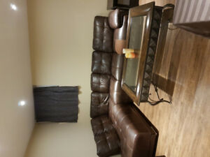 Brown sectional for sale asking 400.00